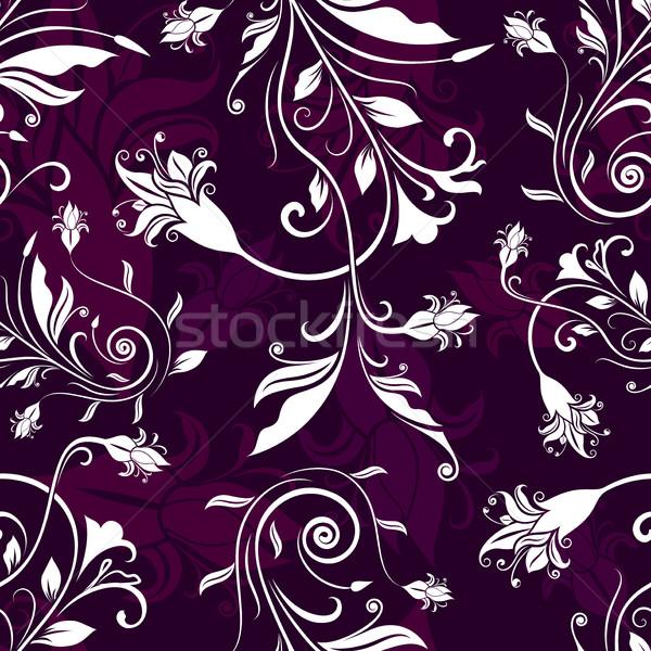 Senza soluzione di continuità fiori retro vettore pattern viola Foto d'archivio © lenapix