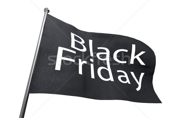 Nagy black friday integet zászló izolált fehér Stock fotó © lenapix