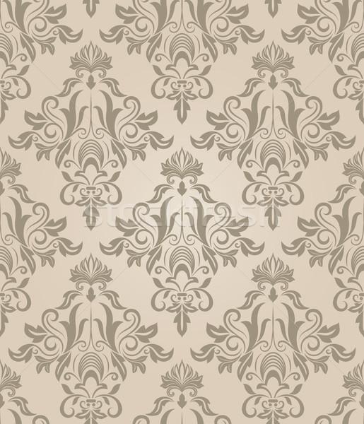 Sem costura bege retro vetor padrão flor Foto stock © lenapix