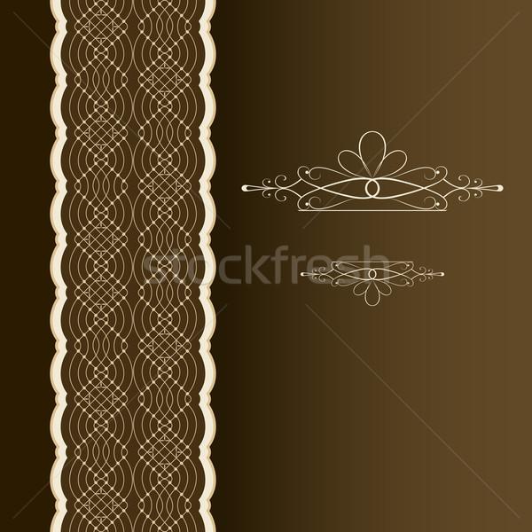 Függőleges könyvborító dísz vektor sablon papír Stock fotó © lenapix