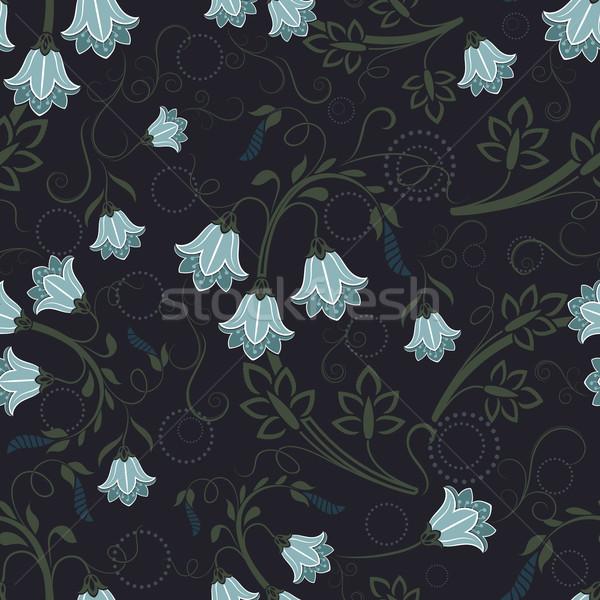 Bezszwowy kwiatowy wektora tapety wzór kwiat Zdjęcia stock © lenapix