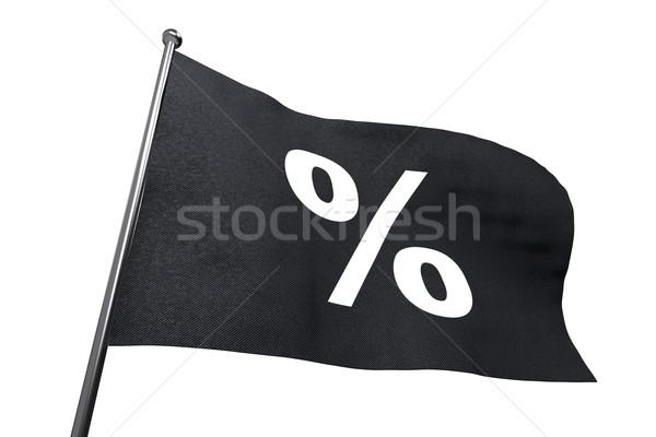 Grande black friday bandeira por cento assinar Foto stock © lenapix
