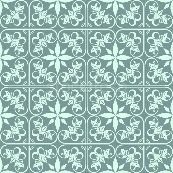 Abstract groene naadloos vintage bloem vector patroon Stockfoto © lenapix