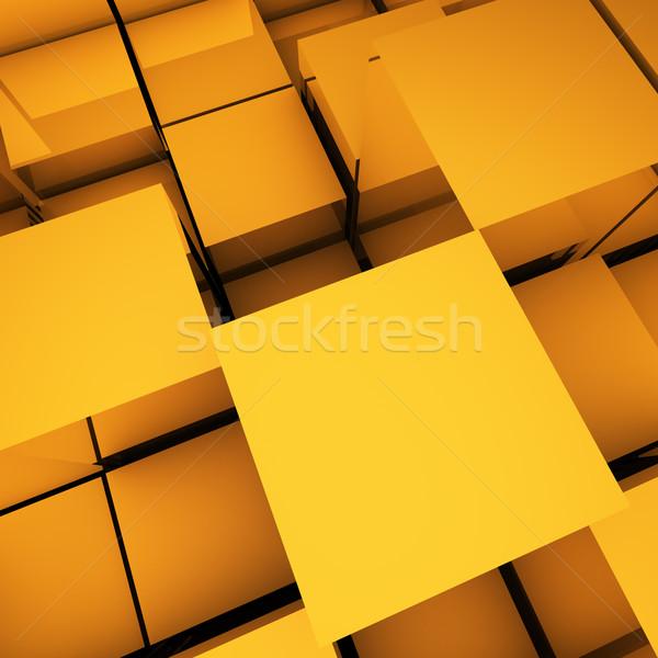 Stockfoto: Abstract · meetkundig · exemplaar · ruimte · business · technologie · achtergrond