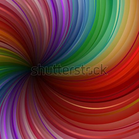 Abstract colorful swirly rays vector background. Stock photo © lenapix