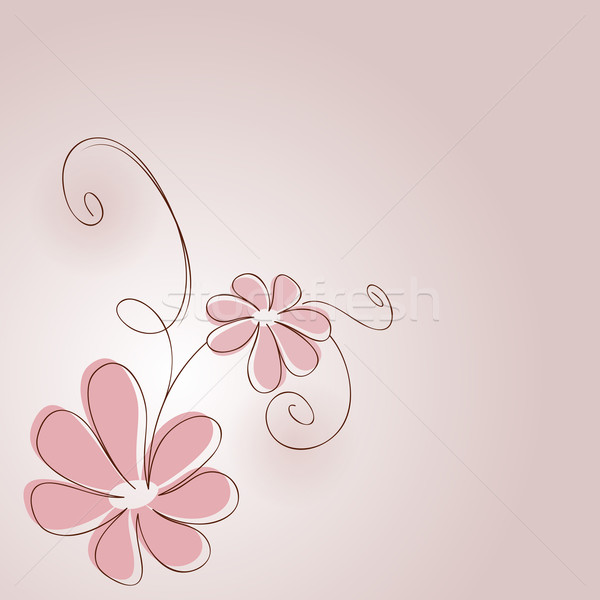 Pink flower stock vectors illustrations and cliparts stockfresh abstract pink flower drawing vector card stock photo lenapix mightylinksfo