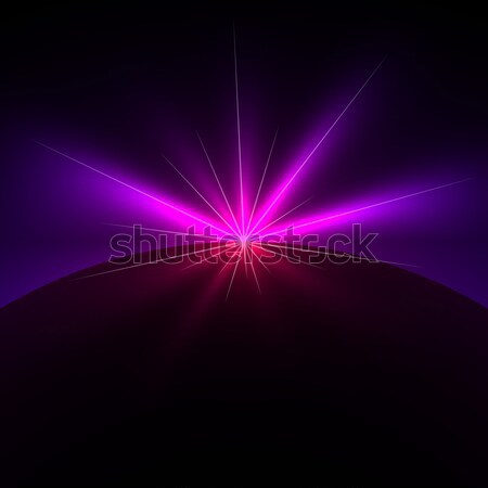 Space light flare vector background with copy space. Stock photo © lenapix