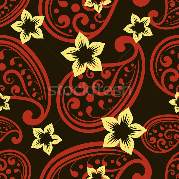 シームレス ベクトル 壁紙 パターン 花 ストックフォト © lenapix