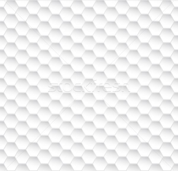 Soyut beyaz petek vektör doku Stok fotoğraf © lenapix