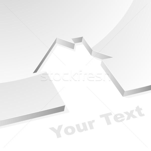 серый дома 3D форма изображение белый Сток-фото © lenapix