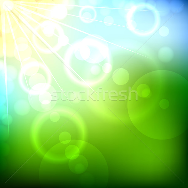 Stock photo: Summer bokeh background.