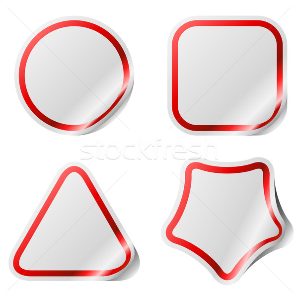 Blank stickers with color frame. Stock photo © lenapix