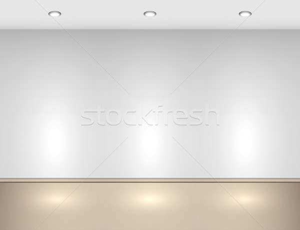 üres belső halogén lámpák fal háttér Stock fotó © lenapix