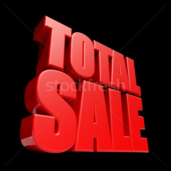 Total Sale 3D letters render isolated on black background. Stock photo © lenapix