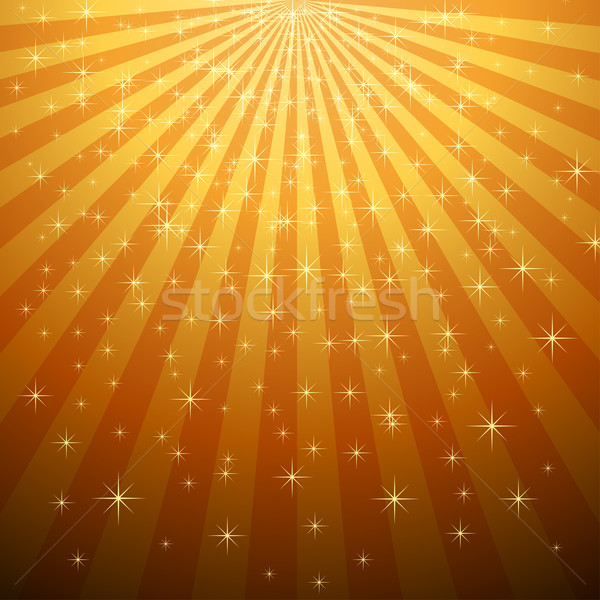 Abstract yellow star burst with star fall vector background.  Stock photo © lenapix