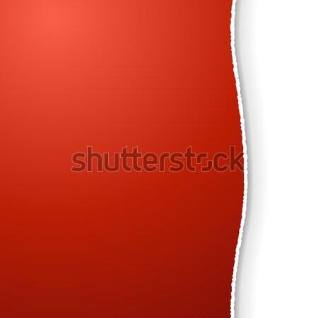 赤 タイトル 引き裂か エッジ ベクトル ストックフォト © lenapix