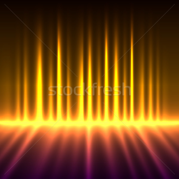 Abstract fire colored aurora borealis lights vector background. Stock photo © lenapix