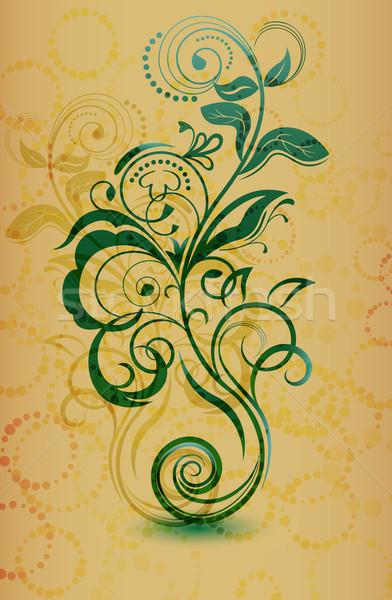 Vintage floreale fiore abstract design Foto d'archivio © lenapix