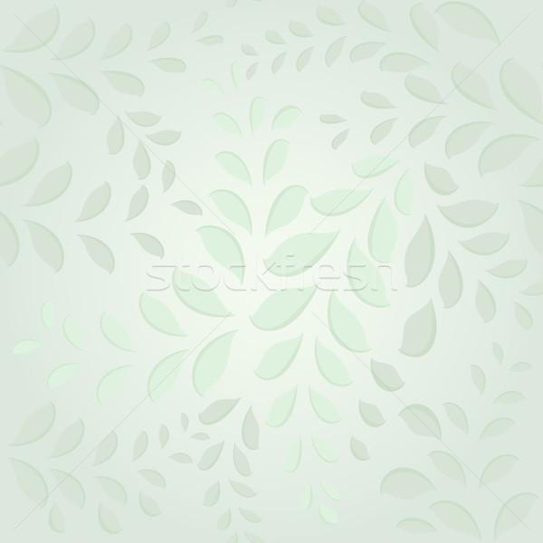 Végtelenített pasztell zöld levelek tavasz vektor divat Stock fotó © lenapix