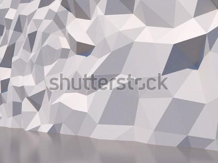 белый многоугольник стены 3D текстуры свет Сток-фото © lenapix