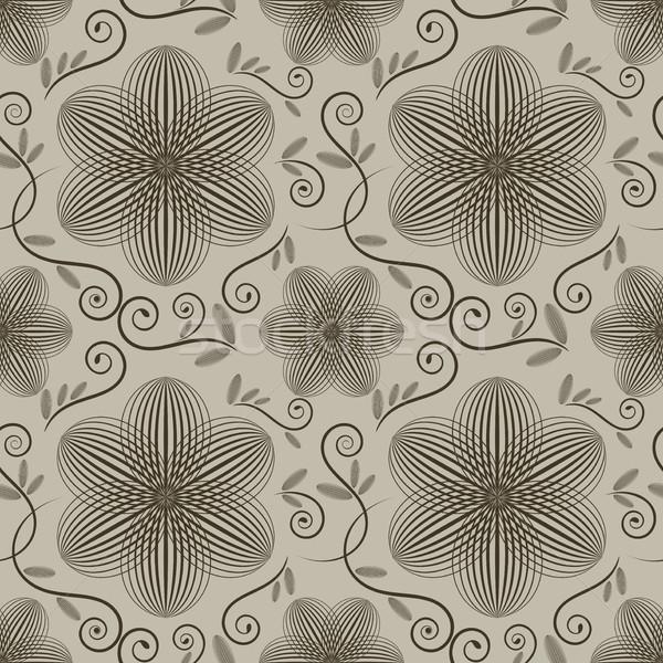 Vektör duvar kağıdı model çiçek Stok fotoğraf © lenapix