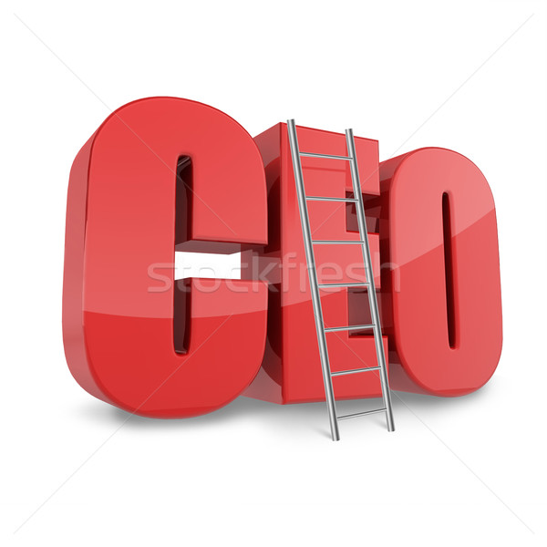 Ceo business concept with CEO abbreviation and ledder. Stock photo © lenapix