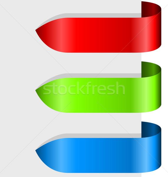 Colore nastro frecce carta internet Foto d'archivio © lenapix