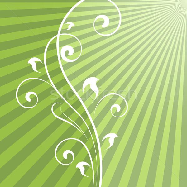 Résumé vert vecteur vertical floral Photo stock © lenapix