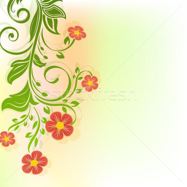 аннотация красные цветы весны копия пространства цветок природы Сток-фото © lenapix