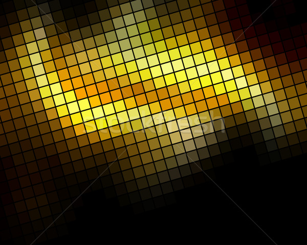 Golden diagonal mosaic vector background. Stock photo © lenapix