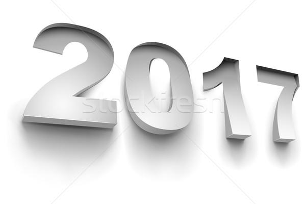Nowego rok biały ściany powierzchnia wektora Zdjęcia stock © lenapix