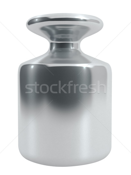Metal calibration weight isolated on white. Stock photo © lenapix
