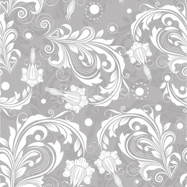 бесшовный ярко цветочный Vintage вектор шаблон текстуры Сток-фото © lenapix