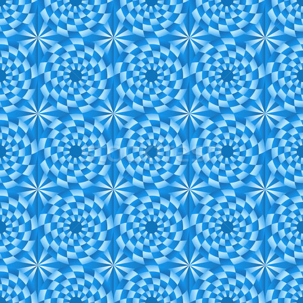 Absztrakt végtelenített kör kék mozaik vektor Stock fotó © lenapix