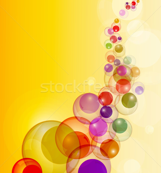 Abstract colorful bubbles stream vector background with copy spa Stock photo © lenapix