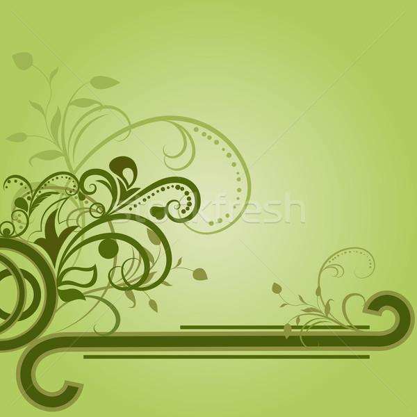 зеленый цветочный копия пространства аннотация дизайна лет Сток-фото © lenapix