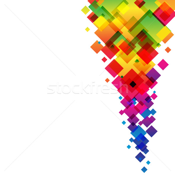 Abstract colorful diamonds vector background. Stock photo © lenapix