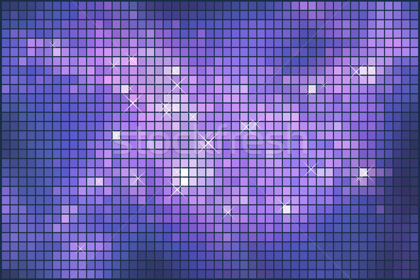Abstract violet sparkling mosaic vector background. Stock photo © lenapix