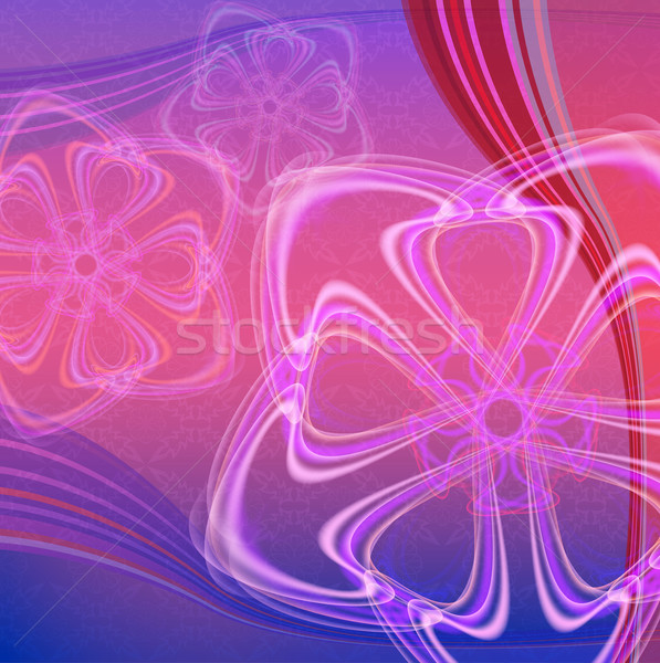 Abstract pink and violet vector background with color waves.  Stock photo © lenapix