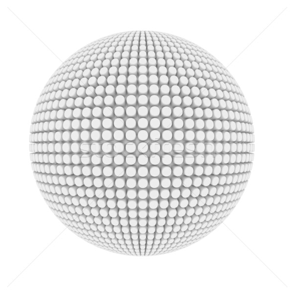 Abstract pimple covered sphere isolated on white. Stock photo © lenapix