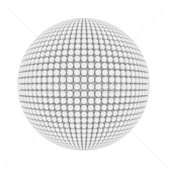 Abstract brufolo coperto sfera isolato bianco Foto d'archivio © lenapix