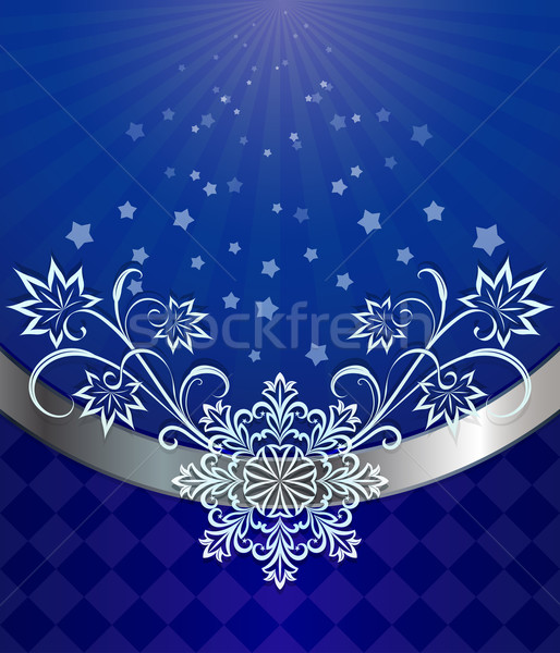Рождества темно синий снежинка орнамент аннотация Сток-фото © lenapix