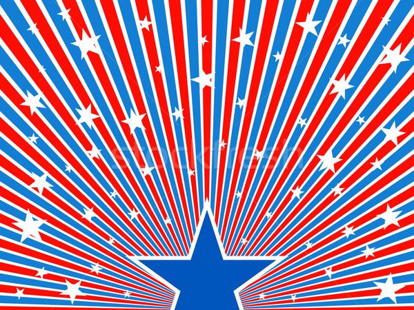 July 4th background – stars flow. Stock photo © lenapix