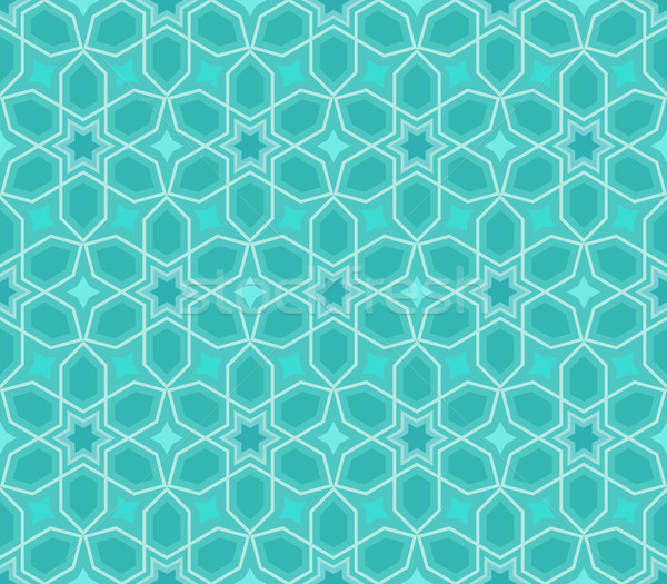 Abstract seamless blue star vector pattern. Stock photo © lenapix