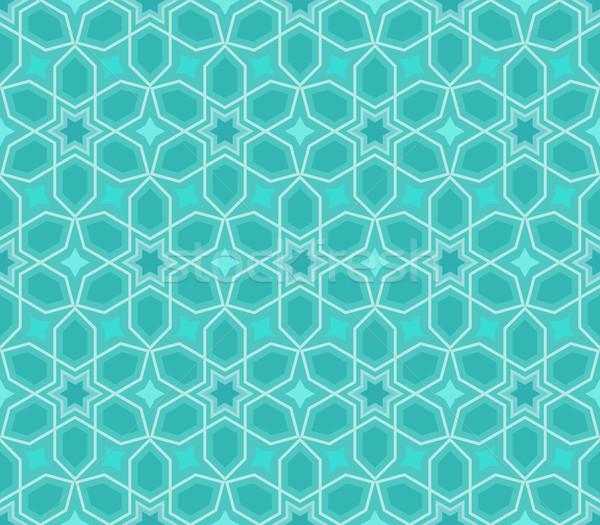 Abstract senza soluzione di continuità blu star vettore pattern Foto d'archivio © lenapix