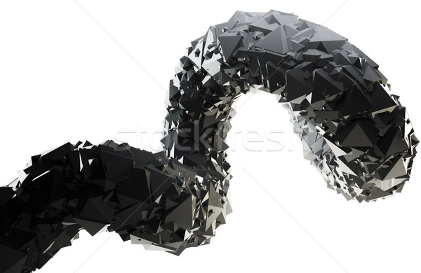 Abstract black 3D swirl isolated on white background. Stock photo © lenapix