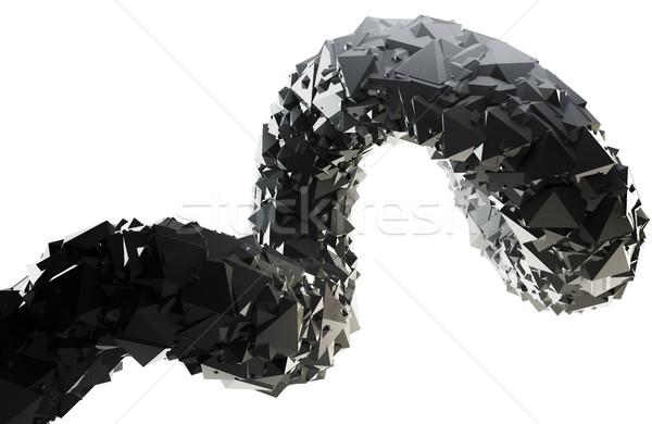 Abstract nero 3D turbinio isolato bianco Foto d'archivio © lenapix