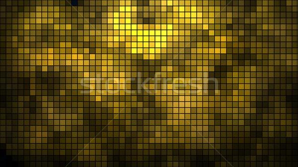 Abstract golden mosaic horizontal vector background. Stock photo © lenapix