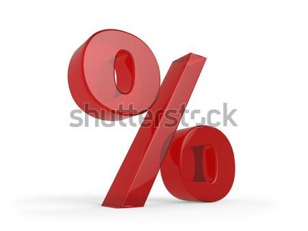 3D процент знак изолированный белый бизнеса Сток-фото © lenapix