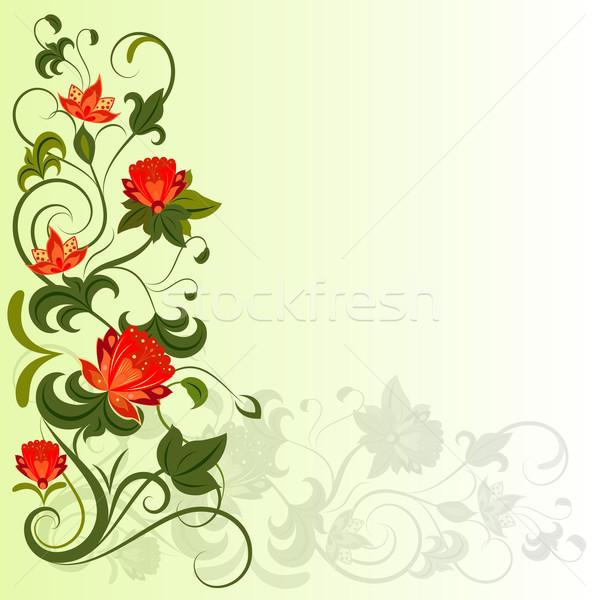 цветочный углу вектора копия пространства цветок Сток-фото © lenapix